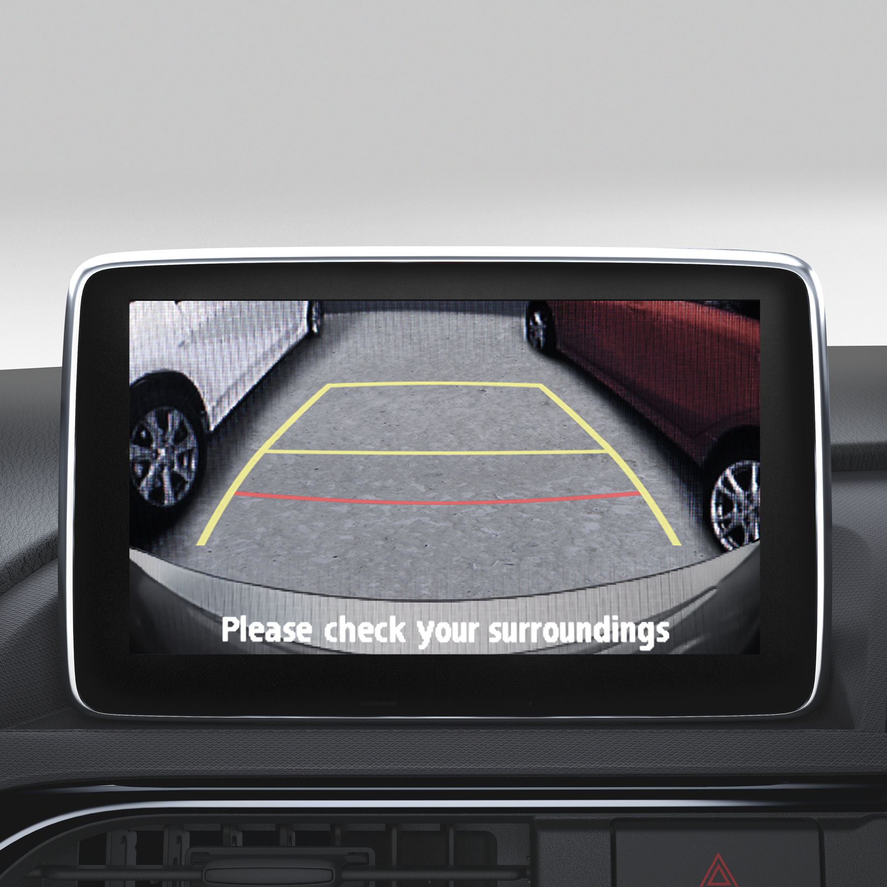 Screen Integrated Parking Camera