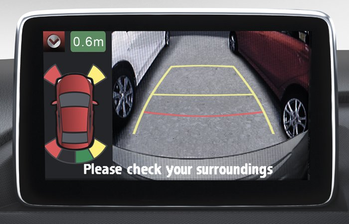 Screen Integrated Parking Sensors