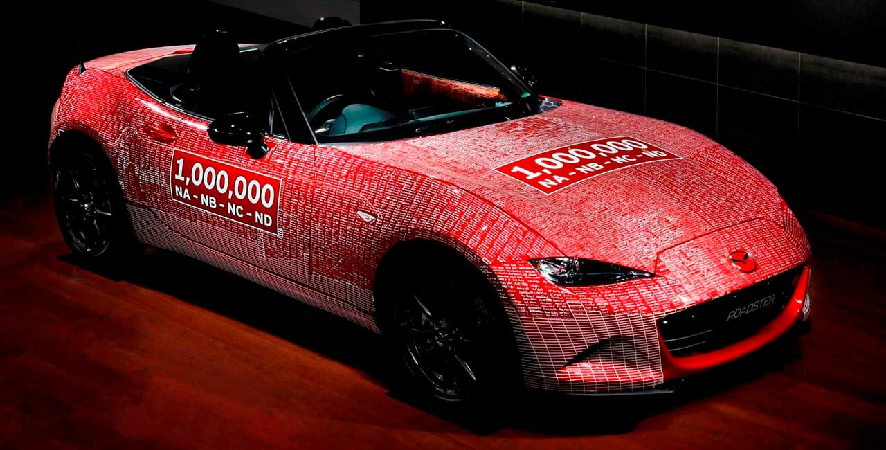 One-Millionth Mazda MX-5 returns home with 10,000 fan signatures
